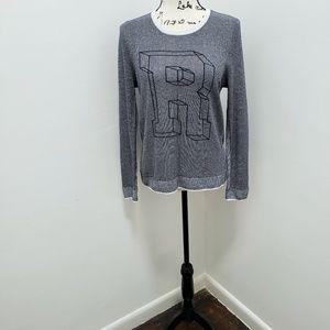 RAG & BONE Rina Block Letter Pullover Sweater